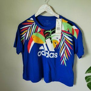 Adidas x Farm Rio Tropical Toucan Crop Tee Sz S
